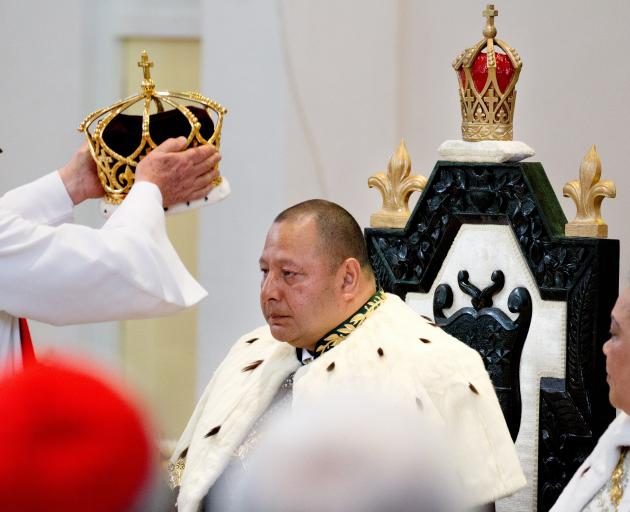 King Tupou VI at his coronation in 2015. Photo: Getty Images