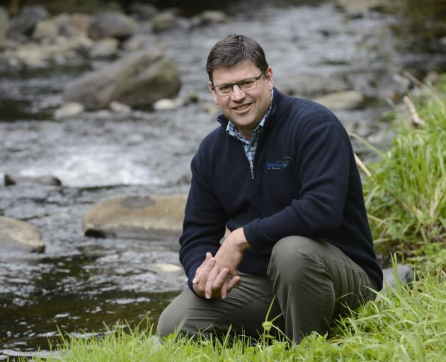 Newly appointed Otago Fish & Game Council chief executive Ian Hadland on the banks of the Leith,...