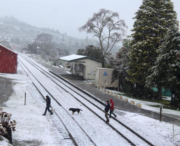 The snowy side of the tracks in Moana. PHOTOS: GREYMOUTH STAR