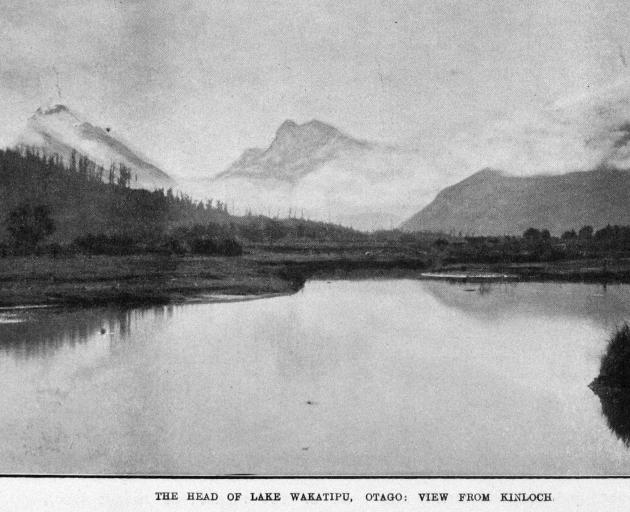 The head of Lake Wakatipu, Otago, from Kinloch. — Otago Witness, 29.8.1919. COPIES OF PICTURE...