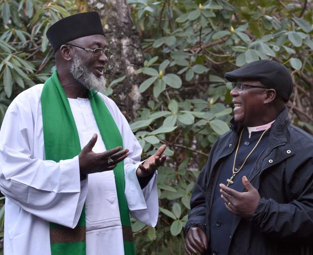 Nigerian conflict resolvers Imam Muhammad Ashafa (left) and Pastor James Wuye speak of growing...