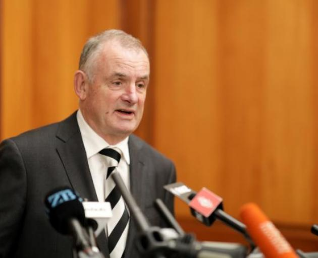 Speaker Trevor Mallard at the release of the report into bullying at Parliament. Photo: RNZ