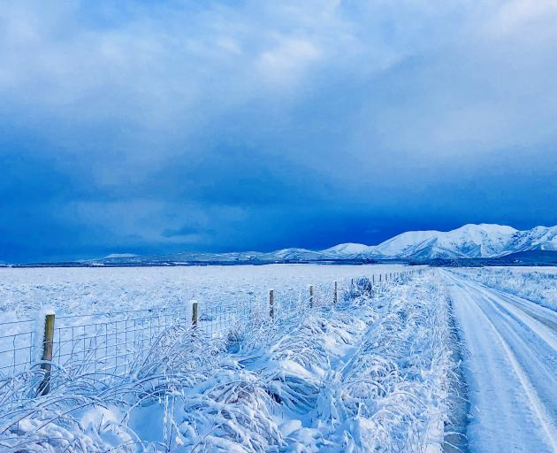 Snow in Naseby yesterday. Photo: Andrew McNeill