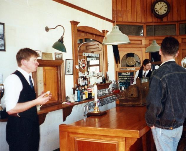 Richard at the Criterion Hotel in Oamaru.