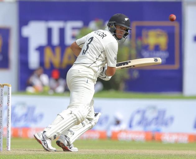Ross Taylor plays a shot in the first test against Sri Lanka. Photo: Getty Images