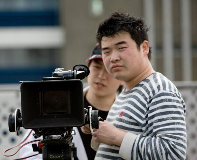 Dunedin film-maker Sam Li hopes the success of his silent short film Mrs Mokemoke, which has been selected to play at a film festival in New York, will continue into a feature film he is planning to make and shoot in Otago in summer. Photo: Supplied
