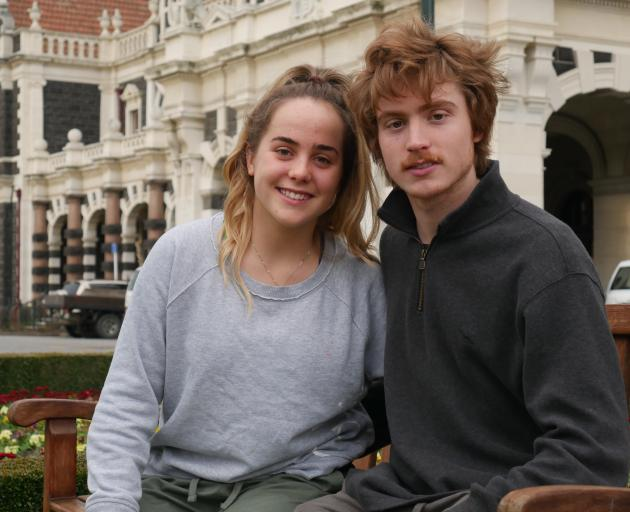 Grace and Thomas Walding will run their first half marathon as part of the Dunedin Marathon next month. Photo: Jessica Wilson