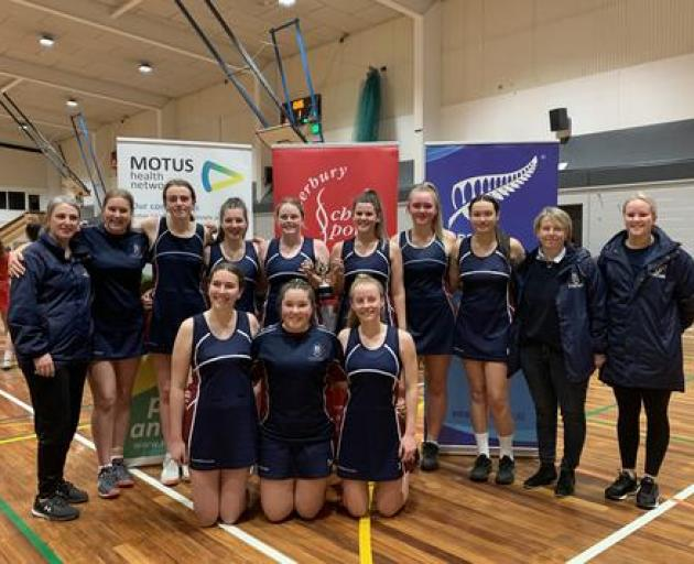 Ellesmere College won the SuperNet Reserve title after a 24-20 win over Riccarton High School. Photo: Angelina King.