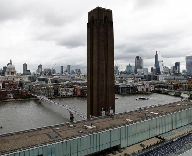 The view from a new viewing platform during the unveiling of the New Tate Modern in London. Photo: Reuters