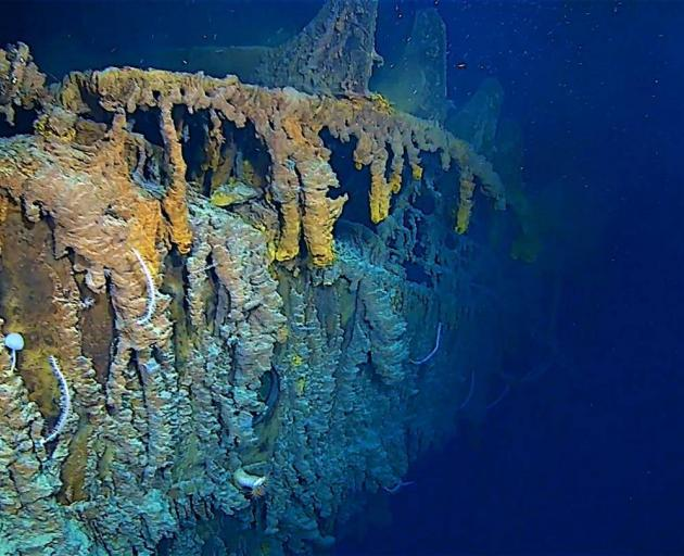 The RMS Titanic pictured recently by crew from EYOS Expeditions who led an expedition to the site...