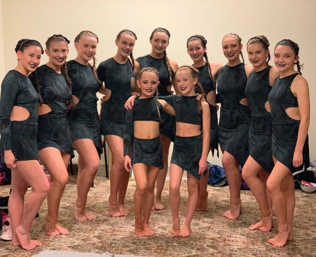 The Meenan Contemporary Group (back from left) Shannya MacRae (14), Isabel Woodhouse (19), Bryse Breen (13), Emma-Rose Hollander (15), Temple Flaws (17), Caitlin Stewart (13), Zara Anthony-Whigham (18), Cate Lord (14), Meg McDonald-Page (13), and (front f
