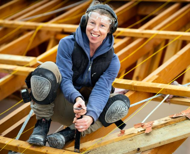 Anna Winskill-Moore is building a future for herself in the construction industry. PHOTO:...
