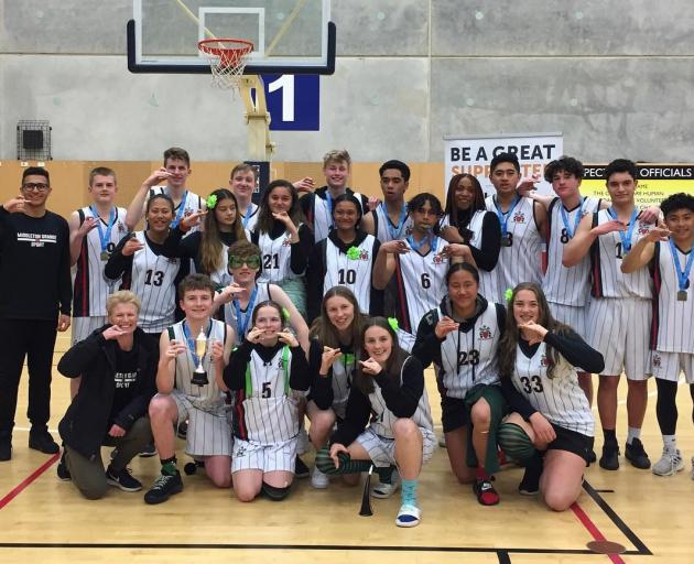 Middleton Grange secured the South Island Secondary Schools' basketball title to go with the Canterbury crown from a fortnight ago. Photo: Supplied.