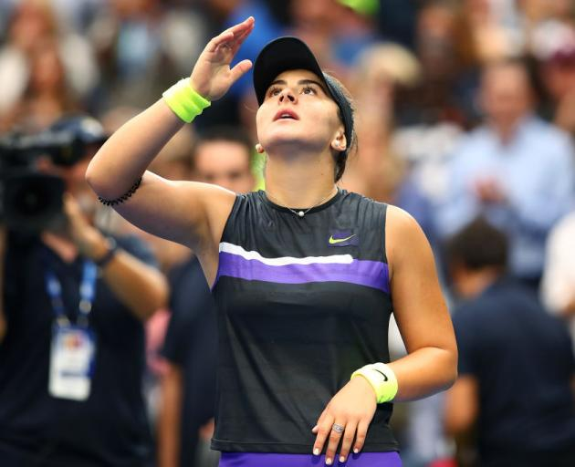 Canadian Bianca Andreescu reacts after claiming her first US Open title against Serena Williams. Photo: Getty Images