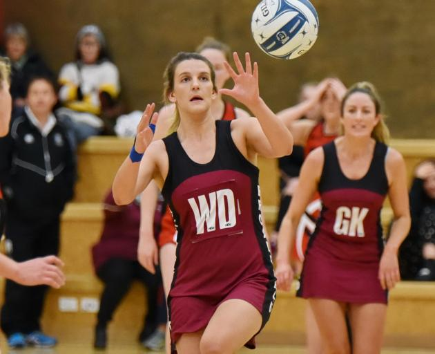 Broadfield A wing attack Shannon Hunt looks for a team mate during her team's 57-49 Selwyn premier netball semifinal win over Lincoln A. Photo: Karen Casey.