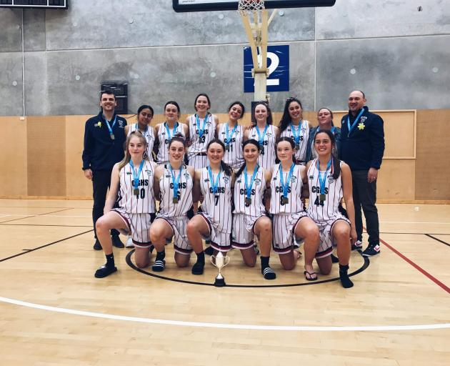 Christchurch Girls' High School won the South Island girls' basketball title in Nelson making it a  clean sweep of South Island titles for Canterbury schools. Photo: Supplied.