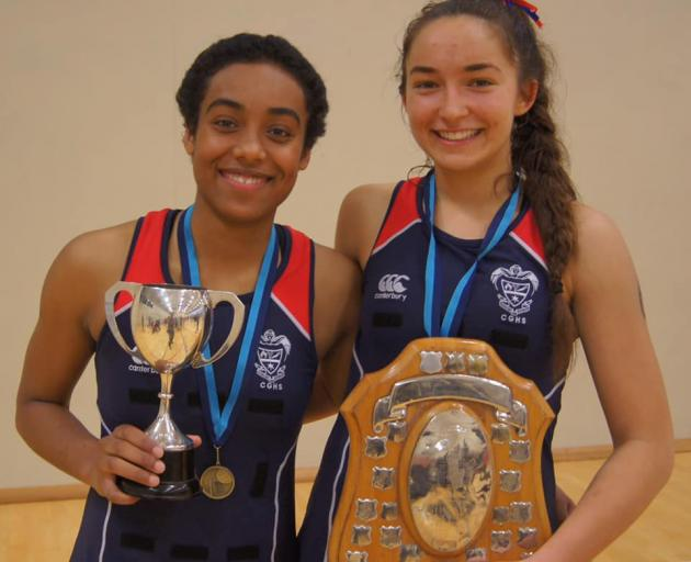 Year 13 students Shana Ali and Charlotte Knight finished their last South Island tournament with a bang. Photo: Supplied