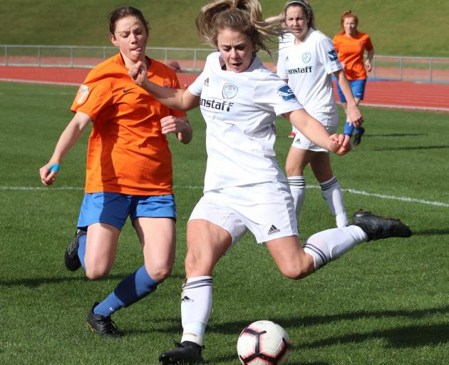 Mel Cameron is one of three Coastal strikers unavailable for Sunday's Kate Sheppard Cup final.
