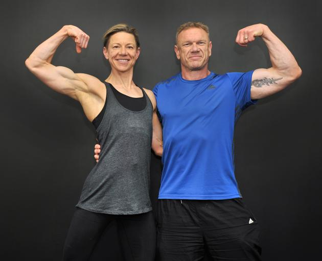 Delaine and Mike Tabb practise a few poses before the Asia-Pacific and Otago Championships...