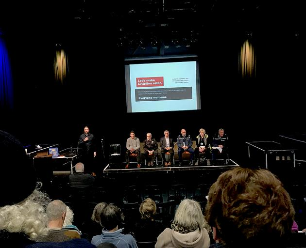 About 80 people attended a community meeting about policing in Lyttelton on Sunday.
