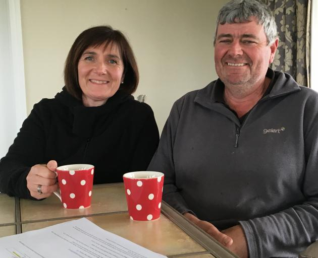 Lynne and Duncan Barr, of Ealing, Mid Canterbury, are looking forward to the season and being farmers again, post M. bovis. Photo: Toni Williams