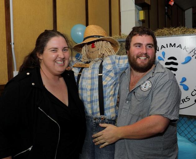 Waimakariri Young Farmers Club treasurer Kaitlyn Corpe (left) and chairman Jeremy Madeley pose...