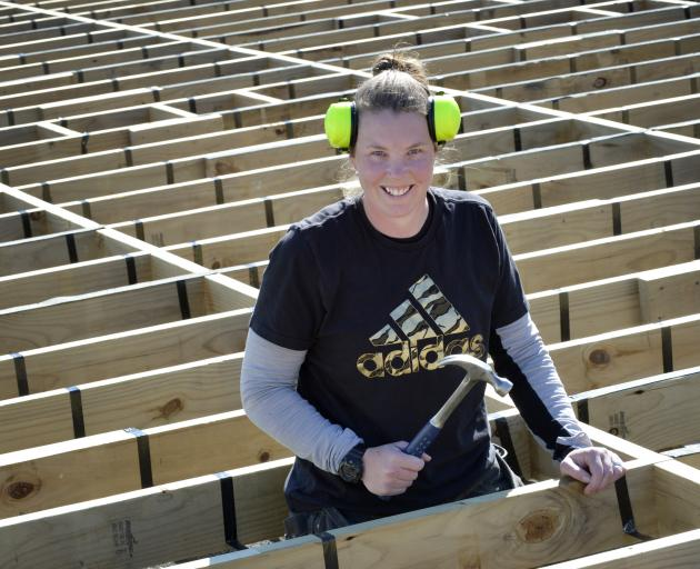 National Association of Women in Construction Excellence Awards finalist Kirsty Currie at work....