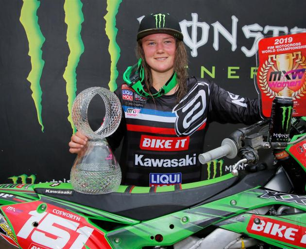 Palmerston's Courtney Duncan has been crowned women's motocross world champion, after winning the...