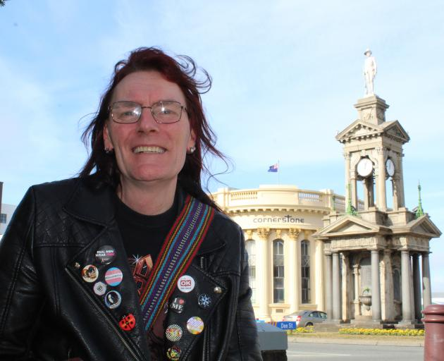 Transgender woman Shauna Scobie, out and proud on the streets of Invercargill. Photo: Petrina Wright