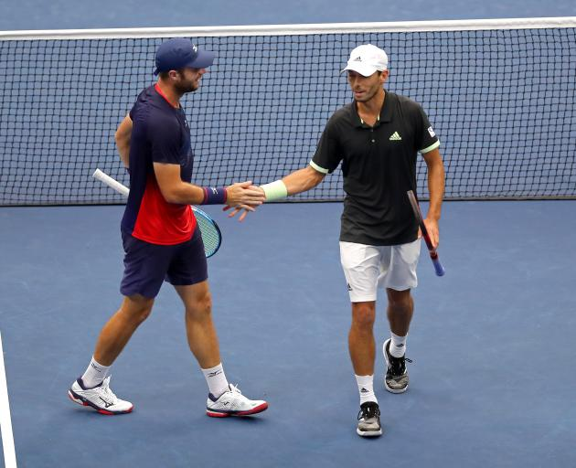 Luke Bambridge (left) and Ben MacLachan during the US Open loss. Photo: Getty Images