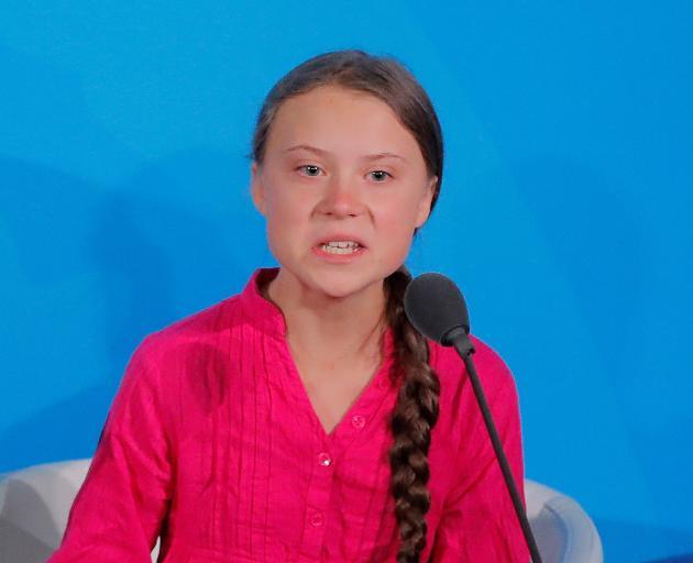 Greta Thunberg addresses the Summit. Photo: Getty Images