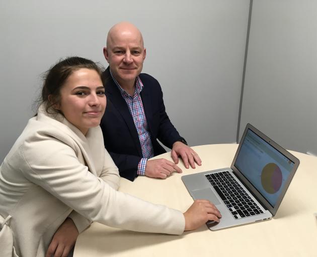 Ellie Tizzard with Waimakariri MP Matt Doocey.