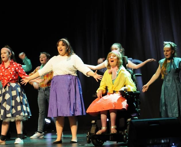 Rangiora's Hartley School of Performing Arts students, from left, front row, Zoe McKinlay-Clarke,...