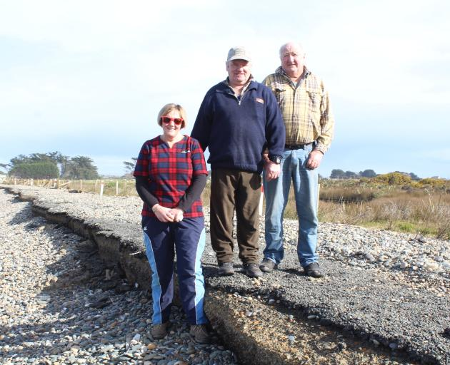 Residents of Colac Bay in Southland, Deen (left) and Alan McKay, and Kevin Mulqueen are no...