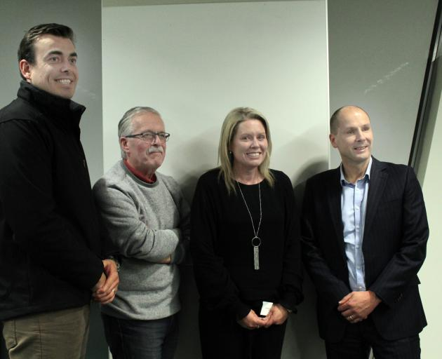 The creation of a Southland charity hospital is one step closer to becoming a reality as interested individuals attended a meeting last night to discuss the proposal. They included (from left) AWS Legal representative Chris Menzies, Prof Phil Bagshaw, Mel