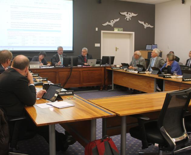 The Southland District council discusses the annual plan. Photo: Laura Smith