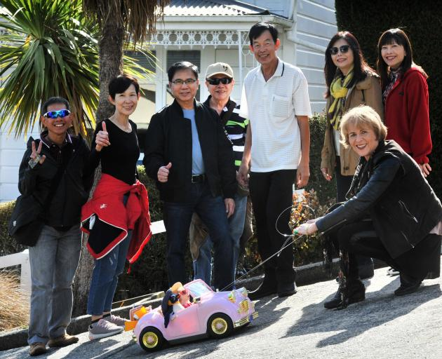 Jill Armstrong test drives her entry in the Dunedin Shanghai Association's Chinese social media...