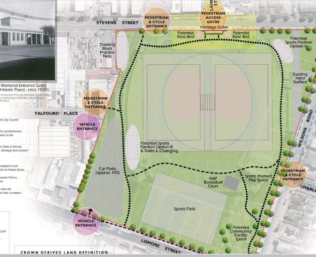 City councillors will decide on Thursday whether to adopt this plan for Lancaster Park.