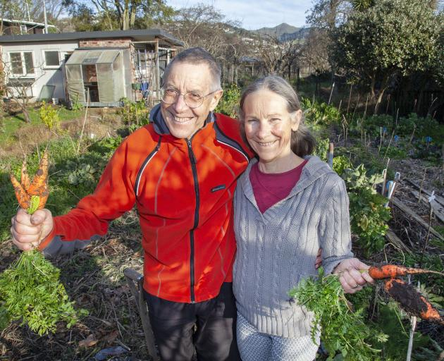 Meg and John Christie are almost fully self sufficient by growing close to 100 different types of fruit and vegetables.