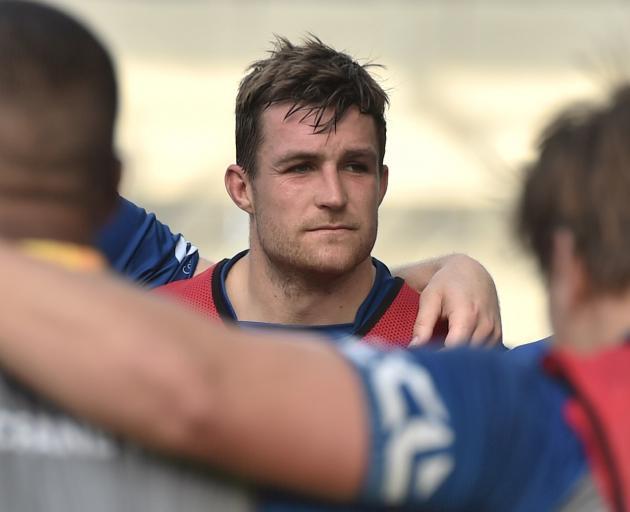 Otago skipper Michael Collins at training at Forsyth Barr Stadium yesterday. PHOTO: GREGOR...