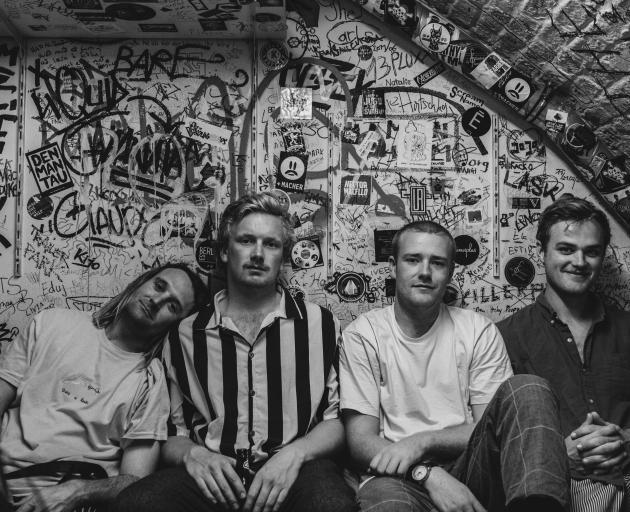 Fresh from their European tour, Mild Orange (from left), Jack Ferguson, Tom Kelk, Josh Reid and...