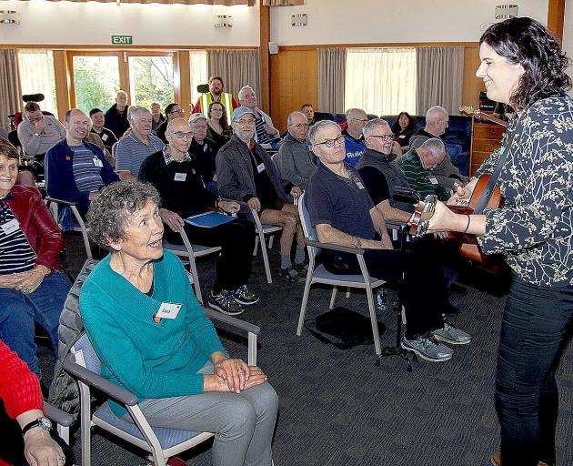POWER OF MUSIC: Senior registered music therapist Kimberley Wade singing with the popular...
