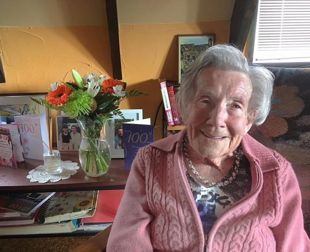 A large group  of guests will help Vera Kerr celebrate her 100th birthday today. Photo: Alexia Johnston