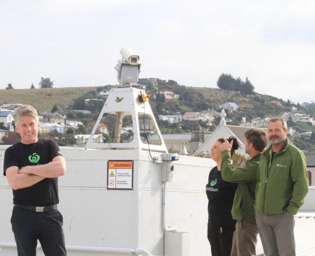 Woolworths New Zealand facilities manager Iain Widlof (left) shows Countdown Oamaru manager...