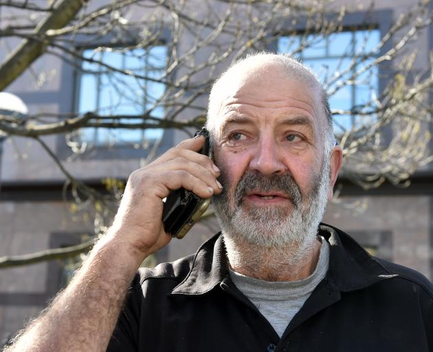 Dunedin man Dennis Hodge, who alerted police to an old, inactivated mortar round yesterday.