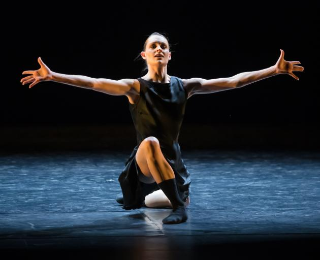 Royal New Zealand Ballet dancer Kirby Selchow performs in Andrea Schermoly's  Stand to Reason.
