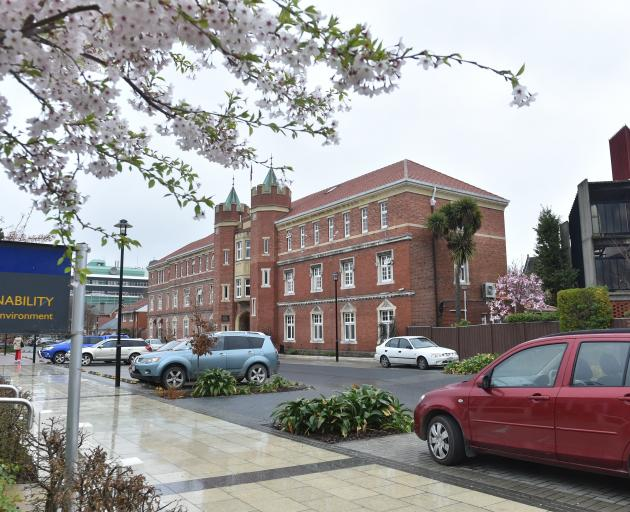 Selwyn College on Castle St, Dunedin. PHOTO: PETER MCINTOSH