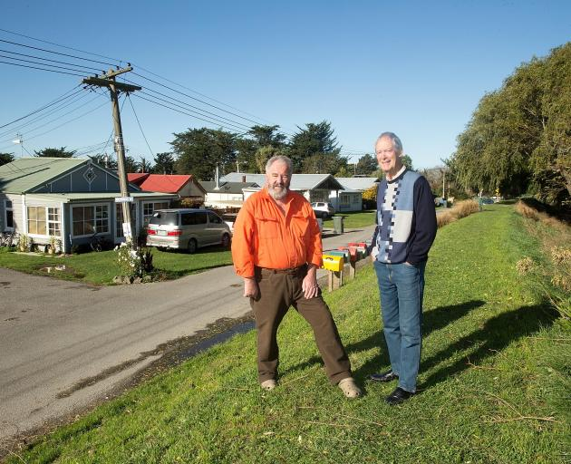 Upper Selwyn Huts residents Graeme Young and Graham Evans are some of the residents who will be...