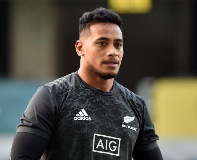 Shannon Fizell during a 2018 All Black rugby captains run at the Forsyth Barr Stadium in June....