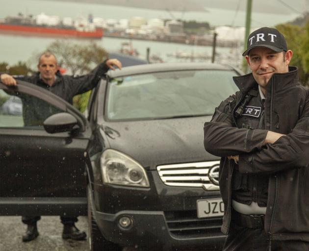 Shannon Mudge and Shane Fuller are patrolling Lyttelton streets on Tuesdays, Thursdays and Saturdays in response to concerns over an increase in crime.